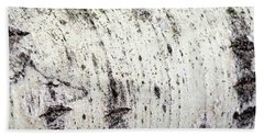 Hand Towel featuring the photograph Aspen Tree Bark by Christina Rollo