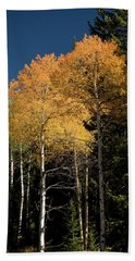 Bath Towel featuring the photograph Aspens And Sky by Steve Stuller