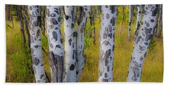 Bath Towel featuring the photograph Aspens by Gary Lengyel