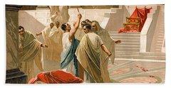 Assassination Of Julius Caesar Hand Towel
