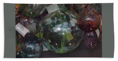 Bath Towel featuring the photograph Assorted Witching Balls by Suzanne Gaff