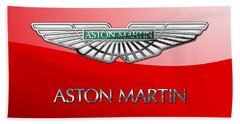 Aston Martin - 3 D Badge On Red Hand Towel