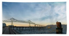 Astoria Megler Bridge By Riverwalk Panorama Hand Towel