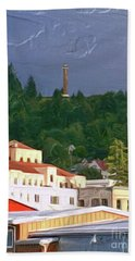 Astoria Oregon Hand Towel by Methune Hively