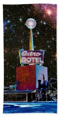 Hand Towel featuring the photograph Astro Motel by Jim and Emily Bush