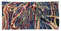 Astrocytes Microbiology Landscapes Series Hand Towel by Emily McLaughlin