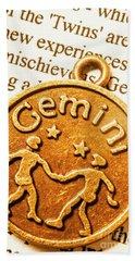 Astrological Gemini Hand Towel