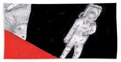Astronaut X37b Hand Towel by Dan Twyman