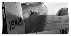 At-11 In Black And White - 2017 Christopher Buff, Www.aviationbuff.com Bath Towel
