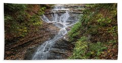 Bath Towel featuring the photograph At Bridal Veil Falls by Dale Kincaid