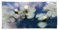 Bath Towel featuring the photograph At Claude Monet's Water Garden 4 by Dubi Roman