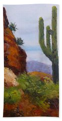 At Javelina Rocks Hand Towel