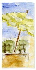 At The Beach Hand Towel by Afinelyne