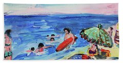 At The Beach Bath Towel by Amara Dacer