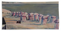 Bath Towel featuring the painting At The Beach by Nop Briex