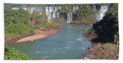 At The Iguacu Falls Bath Towel