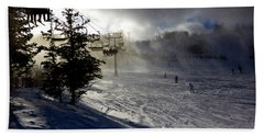 At The Ski Slope Hand Towel