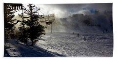 At The Ski Slope Bath Towel