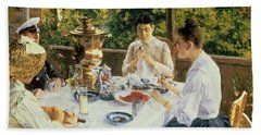 At The Tea-table Hand Towel