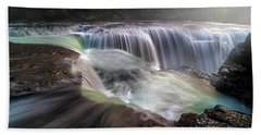 At The Top Of Lower Lewis River Falls Hand Towel