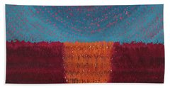 At World's Beginning Original Painting Hand Towel