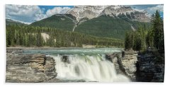 Bath Towel featuring the photograph Athabasca Falls by Russell Pugh