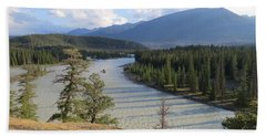 Athabasca River - Jasper Bath Towel