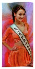 Athenna Crosby Miss California Teen Usa Bath Towel