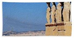 Hand Towel featuring the digital art Athens, Greece by PixBreak Art