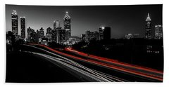 Atlanta Black And White Bath Towel