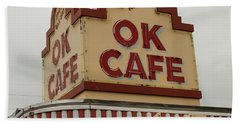 Atlanta Classic Ok Cafe Atlanta Restaurant Art Bath Towel