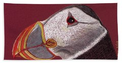 Atlantic Puffin Profile Bath Towel