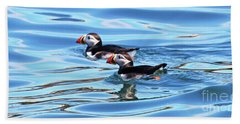 Atlantic Puffins Hand Towel