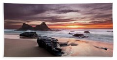 Atlantic Seashore Hand Towel by Jorge Maia
