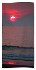 Hand Towel featuring the photograph Atlantic Sunrise by Sumoflam Photography