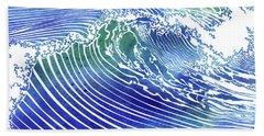 Atlantic Waves Hand Towel
