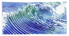 Atlantic Waves Bath Towel