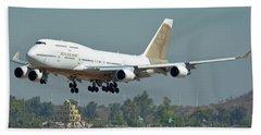 Atlas Air Boeing 747-481 N322sg Phoenix Sky Harbor October 6 2017 Hand Towel