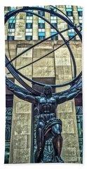 Atlas - Bronze Statue Bath Towel