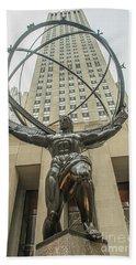 Atlas Rockefeller Center Bath Towel by Timothy Lowry