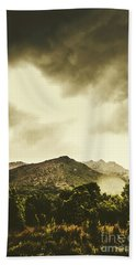 Atmospheric Hills And Valleys Hand Towel
