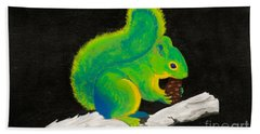 Atomic Squirrel Bath Towel