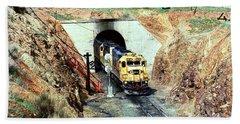 Atsf 5835, Tehachapi California, Emd Sd45-2u Bath Towel by Wernher Krutein