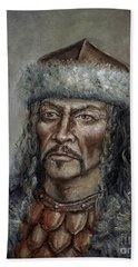 Attila The Hun Hand Towel by Arturas Slapsys