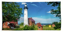 Au Sable Lighthouse  Hand Towel