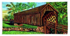 Auchumpkee Creek Covered Bridge Hand Towel