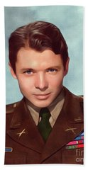 Audie Murphy, Vintage Actor And War Hero Hand Towel