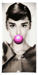 Audrey Hepburn Bubblegum Bath Towel