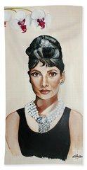 Audrey Hepburn Hand Towel by Shelley Overton