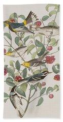Audubons Warbler Hermit Warbler Black-throated Gray Warbler Hand Towel